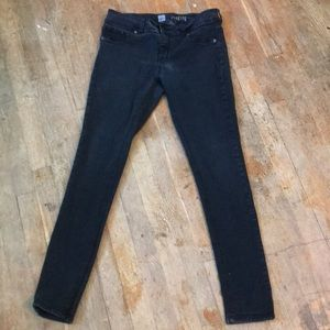 Black Faded Wash Jeggings